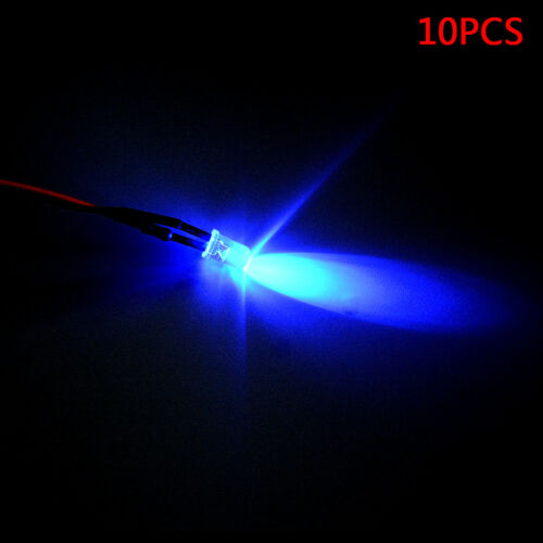 12V 5MM LED Diode Light Clear 20cm Cable Pre-Wired With Plastic Holder
