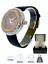 miniature 4 - 14k Rose Gold Custom Unisex Round Baguette Cut Leather Wrist Watch Simulated New