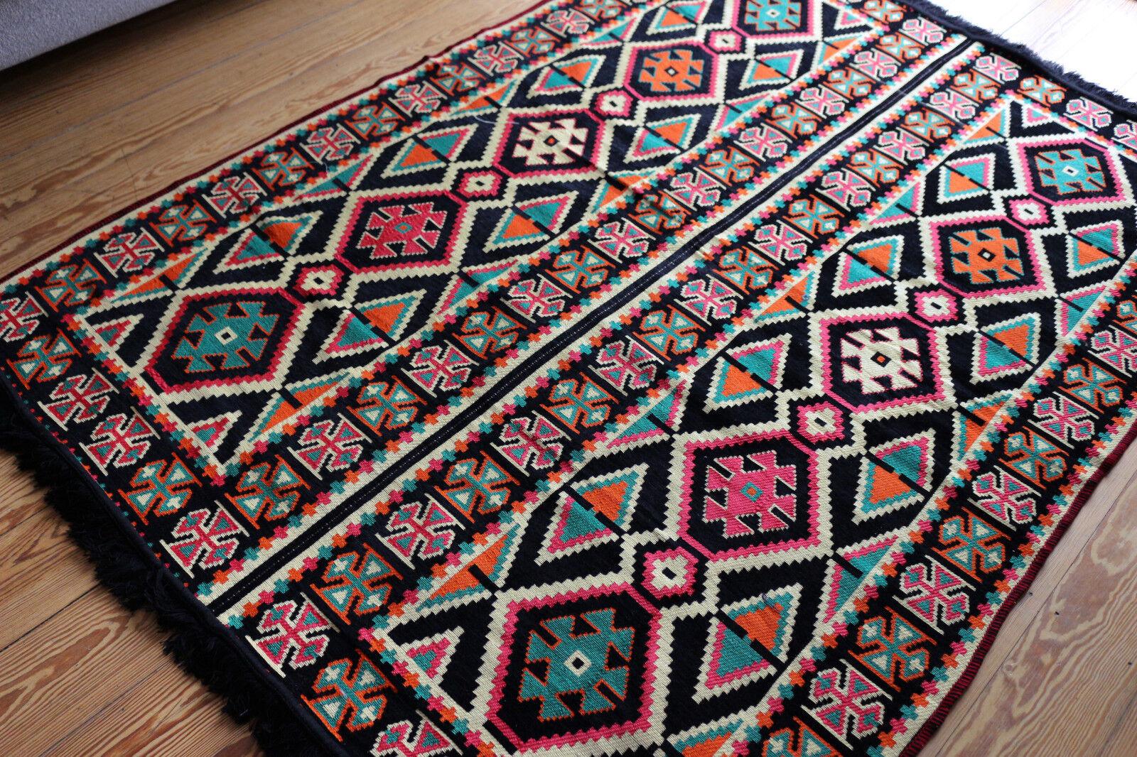135 CM x 200 cm Tappeto Orientale, Rug, Kilim, Carpet da damaskunst S 1-4-48