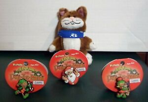 Mittens the Pop-In-Kins Cat & 3 Floppets - Christopher, Christina, & Santa Claus