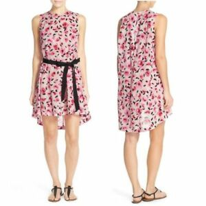 3b2e2adcfc Kate Spade Bay of Roses Pink Floral Sleeveless Swimsuit Cover up Dress S