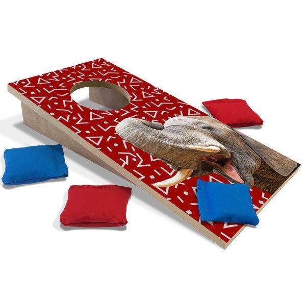 Crimson Elephant Fun Size Cornhole Set