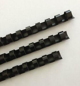 "3/8"" Plastic Binding Combs - ""BLACK"" - Set of 25"