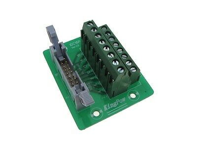 IDC16 16-Pin Connector Signals Breakout Board Screw terminals GP