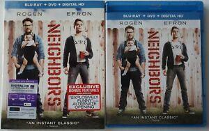 NEIGHBORS BLU RAY DVD 2 DISC + SLIPCOVER SLEEVE FREE WORLDWIDE SHIPPING