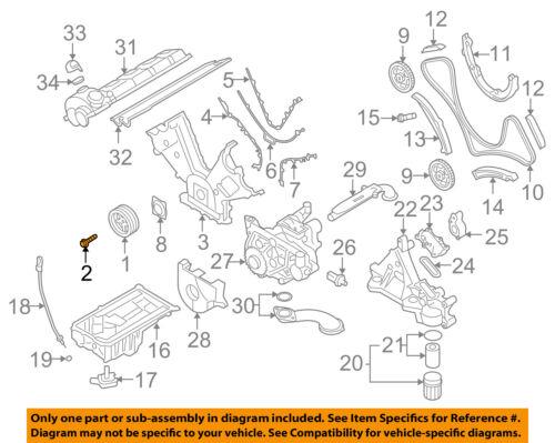 PORSCHE OEM 03-06 Cayenne Engine Parts-Vibration Damper Bolt 94810220200