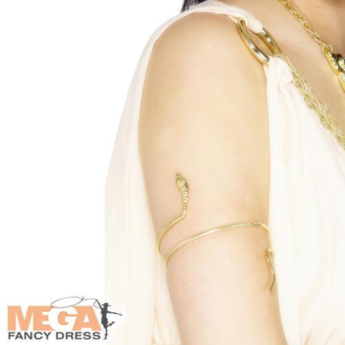 Egyptian Romano Spartano Oro Bracciale Serpente Costume Donna Costume Accessorio