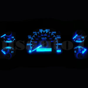 Details About Dash Cer Gauge Aqua Blue Led Lights Bulbs Kit Fits 92 96 Ford F150 F250 F350