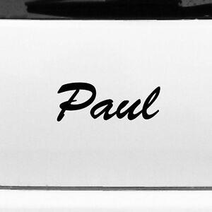 Paul 20cm Children's Room Name Tattoo Sticker Decor Film Car Door Window Cabinet