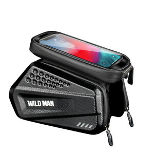 UK WILD MAN Bicycle Front Frame Bag Road Bike Tube Pouch Holder Saddle Pannier