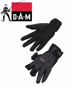 NEW-2019-DAM-CamoVision-Neo-Glove-M-XL-Warm-Neoprene-Protective-Fishing-Gloves