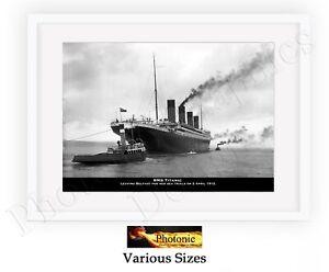 Charitable Rms Titanic Photos Bateau Photo Poster Print Seulement Wall Art Taille A4 Monochrome-afficher Le Titre D'origine Complet Dans Les SpéCifications