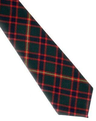 Clan Tie Moffat Modern Tartan Pure Wool Scottish Handmade Necktie