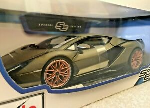 Maisto-1-18-Diecast-Edicion-Especial-Modelo-del-Coche-de-Juguete-Lamborghini-Sian-FKP-37