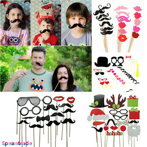 Diy Photo Booth Props Mask Sticker Mustache For Wedding Birthday