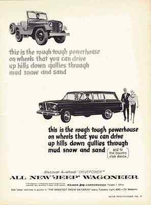 Classic Vintage Advertisement Ad H86 rock path 1972 Jeep Wagoneer