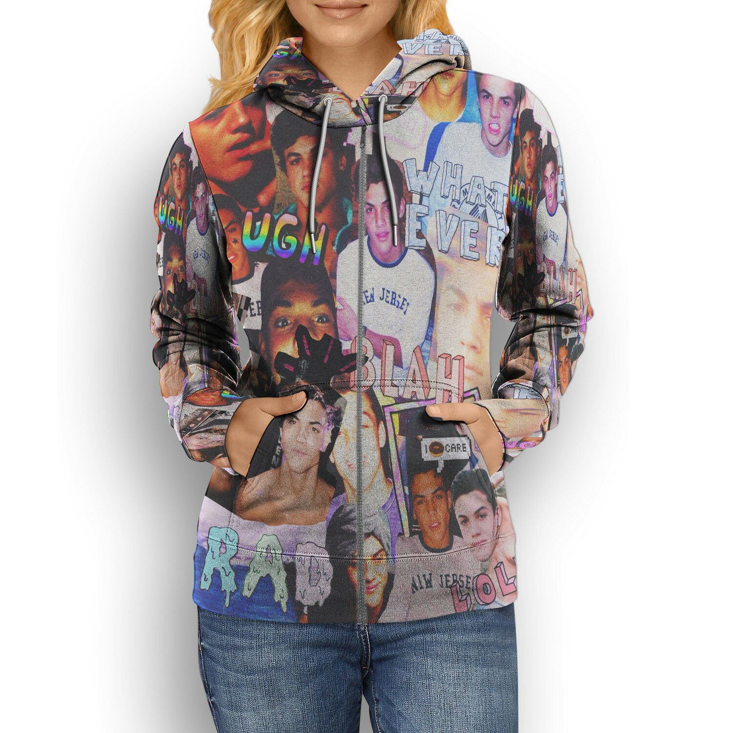 53889e09 Women's New Polyester Print Full Hoodie Twins Dolan Hoodie ...