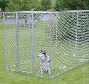 Image is loading XXL-OUTDOOR-DOG-KENNEL-LARGE-TALL-CHAIN-LINK-