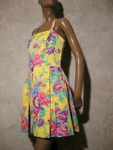 34 Jahre 70er Kleid Vintage 1970 anni 70s Schick 36 Siebziger Vtg 70 Abito qCPwvWWaB