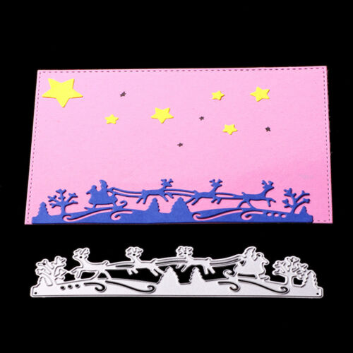 Christmas deer Metal Cutting Dies Stencil Scrapbook Paper Cards Album Decor ZB