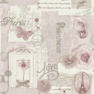Image Is Loading Shabby Chic Soft Pink Felicity Paris Love Floral