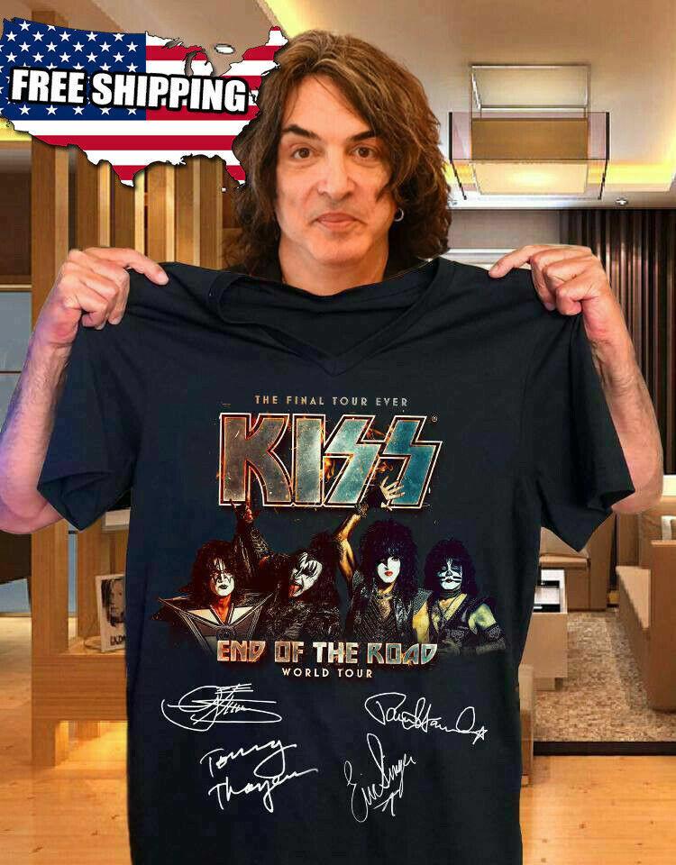 FREESHIP Kiss 2019 End of the Road World Tour Concert T-shirt Black S-6XL Tee