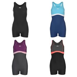 Ladies Slazenger Boyleg Swimming Costume Swimsuit Swimmers8 10 12