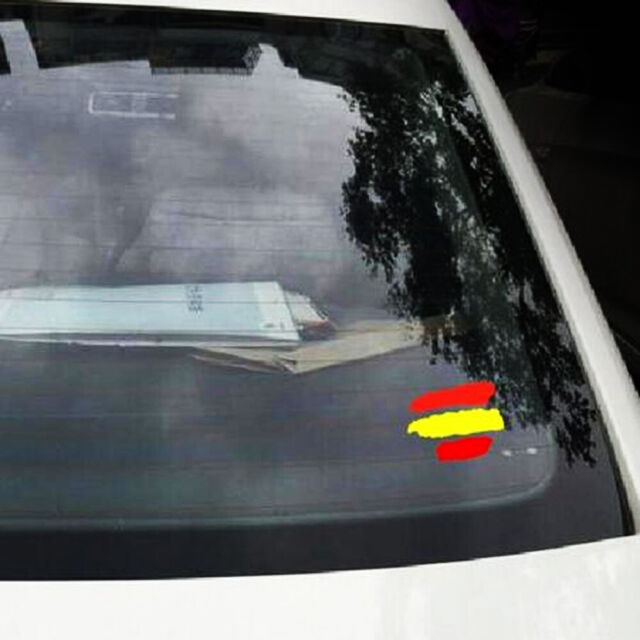 2 x Sticker decal flag tuning bumper jdm car motorcycle vinyl barcelona spain