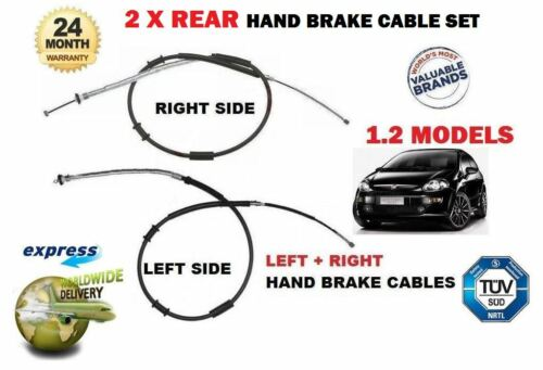 FO FIAT GRANDE PUNTO RIGHT 2x REAR HAND BRAKE CABLES EVO 199 1.2 2005-/> LEFT