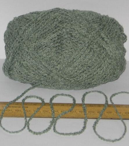 100g Bola Verde Boucle 100/% Pura Raza Británico Lana Doble Hilo Tejer DK E803