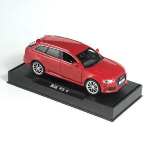 AUDI-RS6-Quattro-1-32-Escala-Modelo-de-Coche-Vehiculo-de-juguete-Diecast-Tire-hacia-atras-Ninos-Rojo