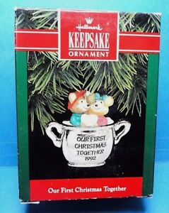 Hallmark Our First Christmas Ornament.Details About Hallmark Our First Christmas Together Ornament 1992