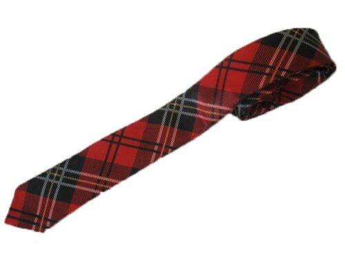 Tartan Tie Red Tartan Tie Fancy Dress Dancewear Party Scottish School Girl Tie