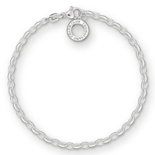 Thomas Sabo Women-Charm Bracelet Charm Club 925 Sterling Silver Length 17 cm X01