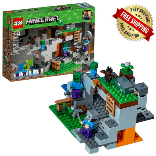 MINECRAFT LEGO THE ZOMBIE CAVE 21141-241 pcs Kids Toy Gift New