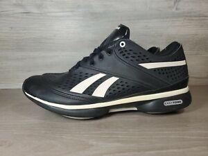 Reebok Train tone Smooth fit Walker Black Silver Easytone Shoes Womens Size 8