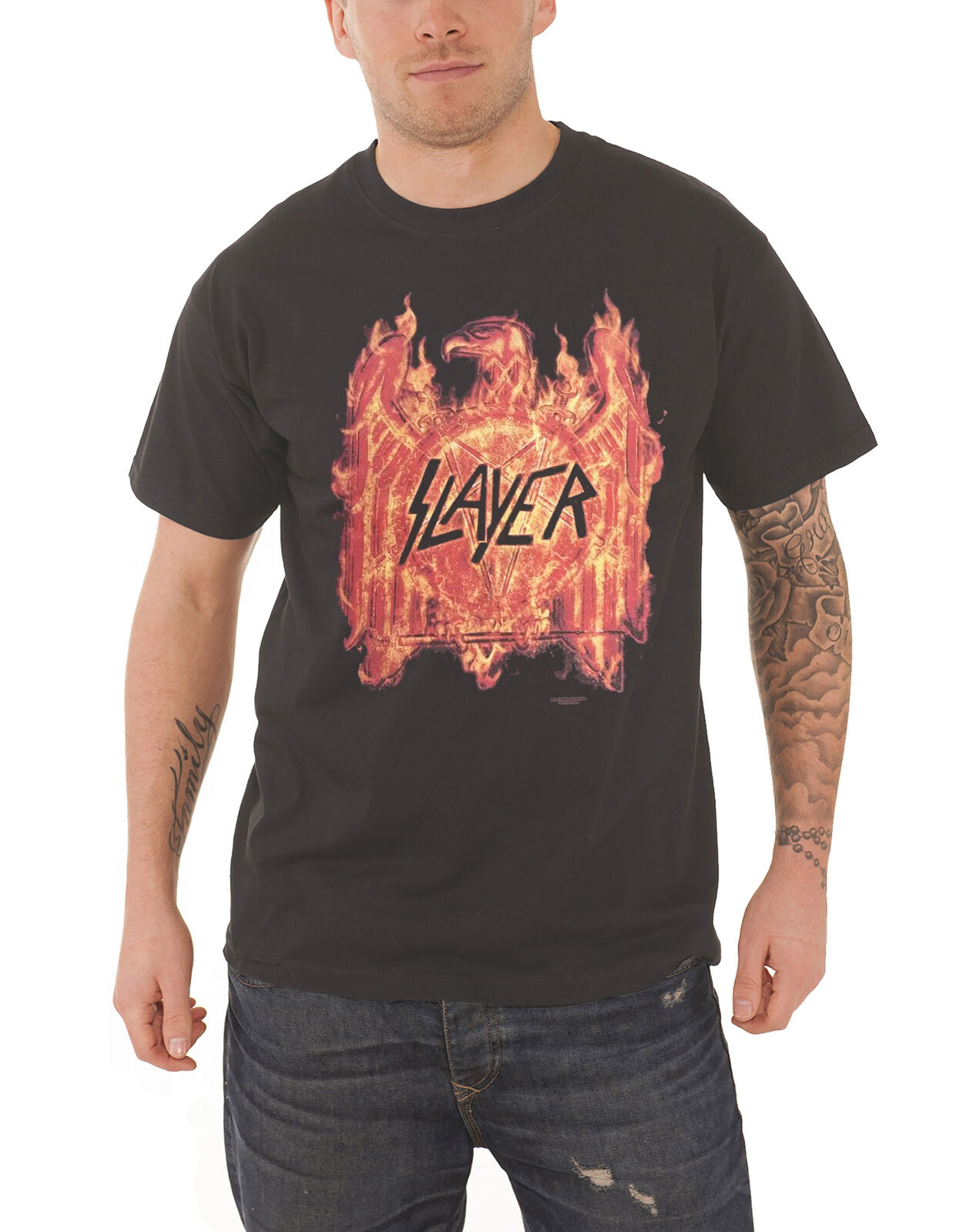 Flaming Shirt T Tour Repentless Eagle Nouveau Slayer 2016 75z4qR5