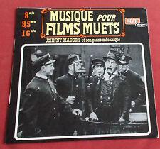 MUSIQUES POUR FILMS MUETS  LP JOHNNY MADDOX ET SON PIANO MECANIQUE