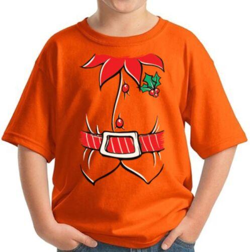 Elf Costume Christmas Shirts for Kids Santa Helper Youth Christmas Tee Elf Suit