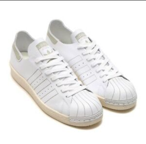 new styles 01a27 34c1d Details about Adidas Superstar 80s Decon White Vintage Sz 13 Leather  Sneakers Men Shoes BZ0109
