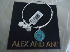 Alex and Ani ARROWS OF FRIENDSHIP Shiny Silver Charm Bangle New W/Tag Card & Box