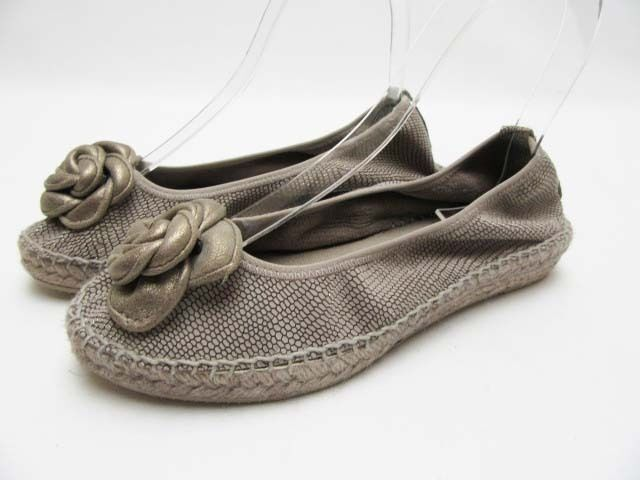 Auth ANDRE ASSOUS Cleo Espadrille Flat Schuhes, Pewter, Größe Größe Größe 7 ecb96d