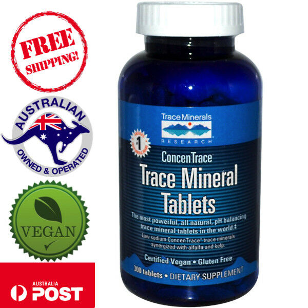 Trace Minerals Research Trace Mineral Tablets 300 Vegan Tablets Gluten Free