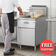 New Listingcommercial Kitchen 70 100 Lb Natural Gas Stainless Steel Floor Deep Fryer New