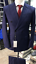 Breasted 150 brede Super Navy Double Peak Wollen Windowpane Cerrutti pak Revers mwyvNn08OP
