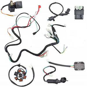 wiring harness kit electrics wire loom assembly for gy6 125cc 150cc image is loading wiring harness kit electrics wire loom assembly for