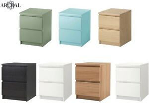 Image Is Loading Ikea Malm Chest Of 2 Drawers Bedside Table