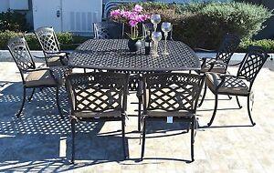 Cast-aluminum-patio-dining-set-9pc-outdoor-furniture-square-Nassau-table-8-chair