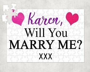 Details about Personalised Marriage Proposal Jigsaw Puzzle -Marry Me Secret  Engagement Suprise