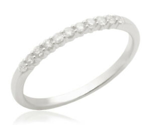 Diamond-Ring-0-25Ct-Round-Natural-Brilliant-Cut-Diamonds-Anniversary-Band